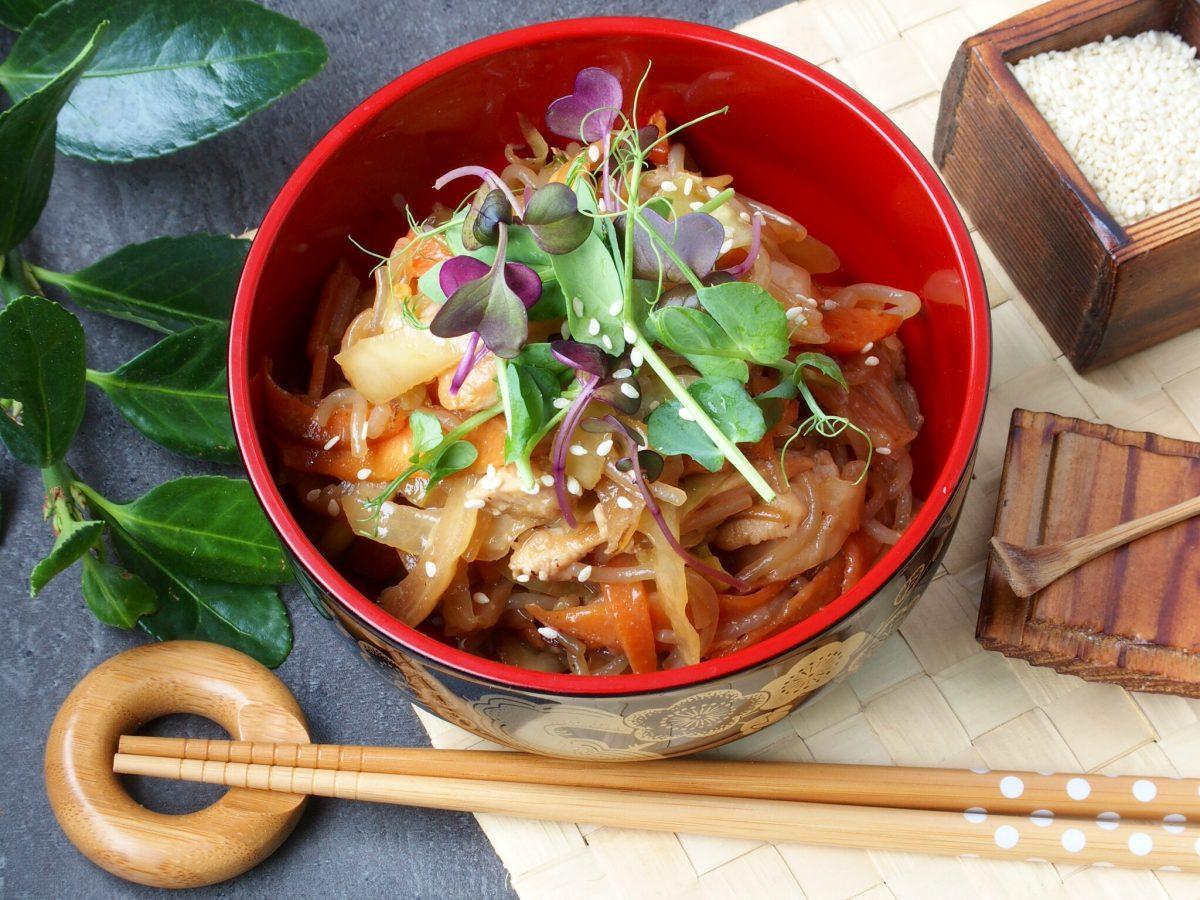 Japchae, korejski rezanci od slatkog krumpira
