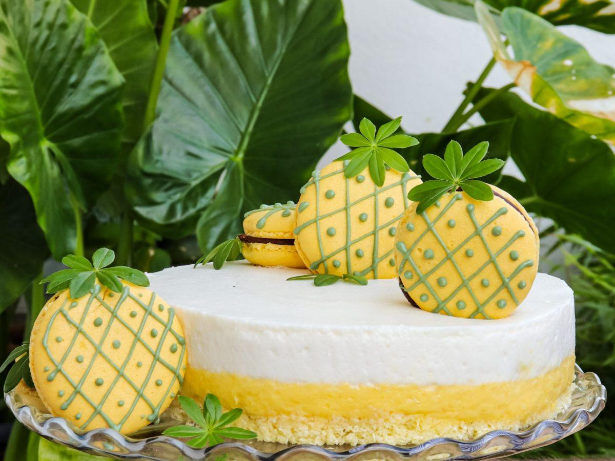 Pjenasta torta s kokosom i ananasom